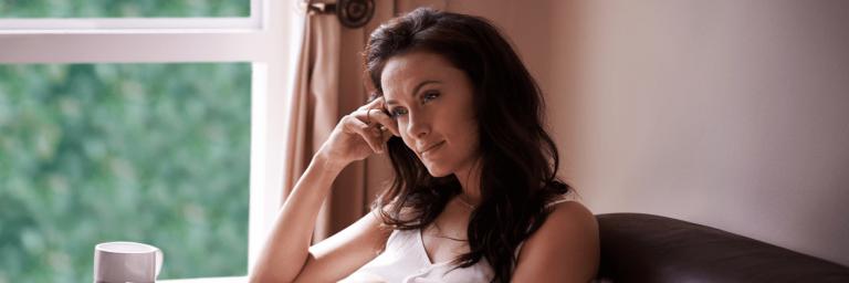 woman self-reflecting