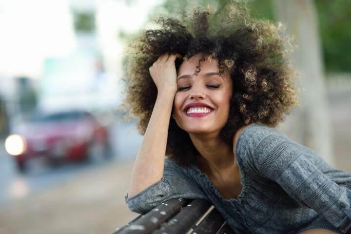 a happy woman