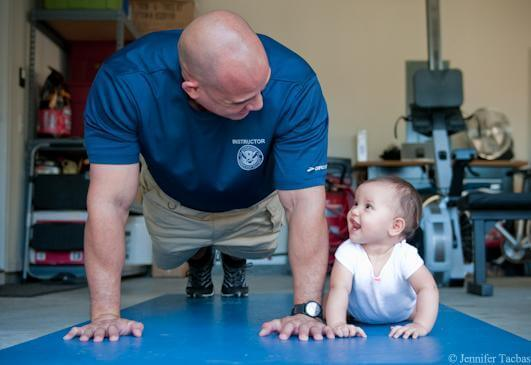 dad and child yoga
