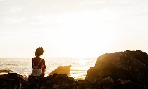 yoga, peace, woman