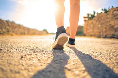a person walking