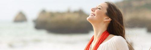 woman happy face smiling gratitude life