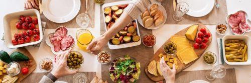healthy food recipe cheese slices ham salad corn avocado butter bread