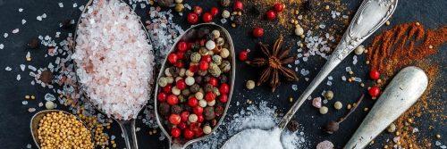 salt pepper powder healthy cooking ingredient for meal