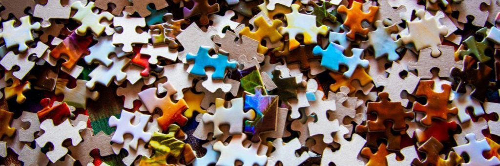 unarranged colorful puzzles