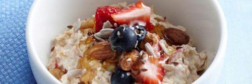 healthy brilliant muesli bowl nuts blueberry strawberry